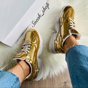 NWT Adidas Falcon Gold Women's Shoes